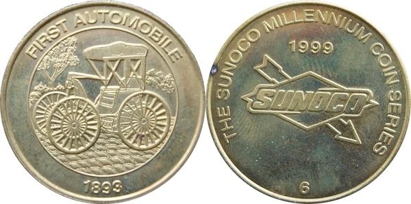 1999 Man/'s First Moon Landing Sunoco Millennium Coin Series Token