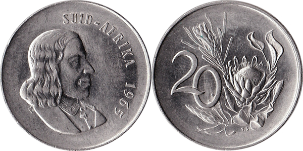 20 Cents Afrikaans Legend Suid Afrika South Africa Numista