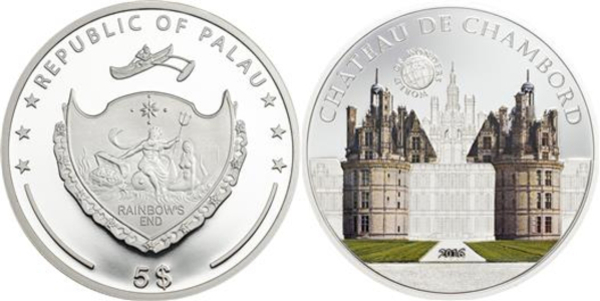 Palau 2016 5$ World of Wonders White House silver 20g Silver Proof Coin