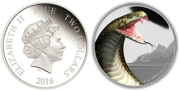King Cobra Silver Coin Kings Of The Continents 2016 Niue 1 oz
