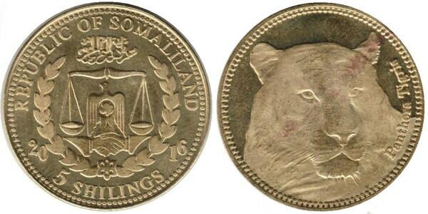 2016 Somaliland 2500 shillings animal wildlife Polar Bear bimetallic coin