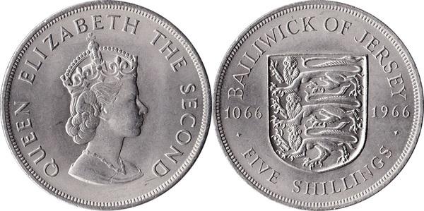 1966 Bailiwick of Jersey Norman Conquest Commemorative BU UNC Crown Coin