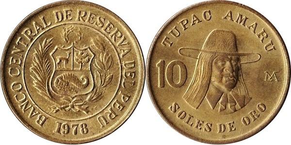 KM 272.2  10 Soles 1979  UNC Peru