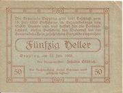 50 Heller (Öpping) -  reverse