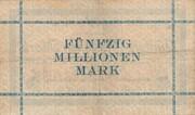 50,000,000 Mark – reverse