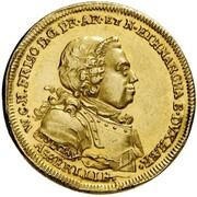 1 Ducat (Treaty of Aix-la-Chapelle & 100th Anniversary of Dutch Independence) – obverse