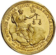 1 Ducat (Treaty of Aix-la-Chapelle & 100th Anniversary of Dutch Independence) – reverse