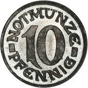 10 Pfennig - Aachen – reverse