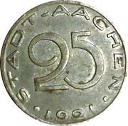 25 Pfennig - Aachen – obverse