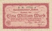 1,000,000 Mark (Handelskammer; red issue) – obverse