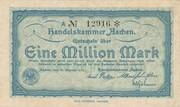1,000,000 Mark (Handelskammer; blue issue) – obverse