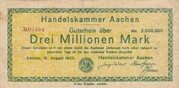 3,000,000 Mark (Handelskammer) – obverse