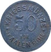 50 Pfennig - Aalen – reverse