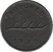 1 Pfennig - Aalen – reverse