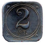 2 Pfennig - Aalen – reverse