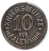 10 Pfennig - Aalen – reverse