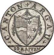 1 Batzen / 10 Rappen (pointed shield) – obverse