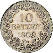 10 Batzen -  reverse