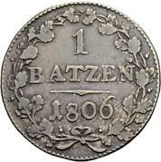 1 Batzen (oval shield) – reverse