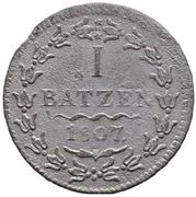 1 Batzen (Small Date) – reverse