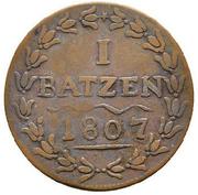 1 Batzen (Large Date) – reverse