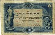 100 Francs (Aargauische Bank) – obverse