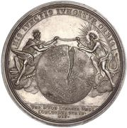 Medal - Peace of Baden (Map of Europe) – reverse
