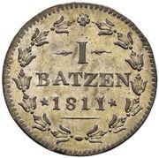 1 Batzen / 10 Rappen -  reverse