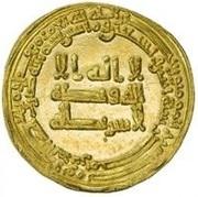 Dinar - al-Muktafi - 902-908 AD -  obverse