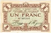 1 Franc - Chambre de Commerce d'Abbeville (80) – obverse