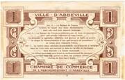 1 Franc - Chambre de Commerce d'Abbeville (80) – reverse