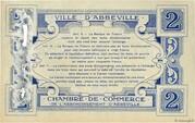 2 francs - Ville et Chambre de Commerce d'Abbeville [80] – reverse