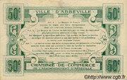 50 centimes - Ville et Chambre de Commerce d'Abbeville [80] – reverse