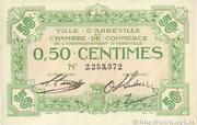 50 centimes - Ville et Chambre de Commerce d'Abbeville [80] – obverse