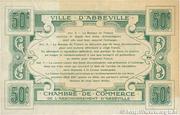 50 Centimes - Chambre de Commerce d'Abbeville (80) – reverse