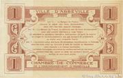 1 franc - Ville et Chambre de Commerce d'Abbeville [80] <Filigrane abeilles> – reverse