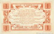 1 franc - Ville et Chambre de Commerce d'Abbeville [80] <Avec timbre sec> – reverse