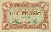 1 franc - Ville et Chambre de Commerce d'Abbeville [80] <Sans timbre sec> – obverse