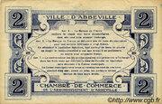 2 francs - Ville et Chambre de Commerce d'Abbeville [80] <Filigrane abeilles> – reverse