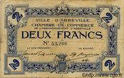 2 francs - Ville et Chambre de Commerce d'Abbeville [80] <Sans filigrane, avec timbre sec>abeilles> – obverse