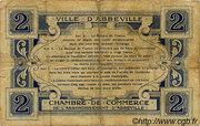 2 francs - Ville et Chambre de Commerce d'Abbeville [80] <Sans filigrane, avec timbre sec>abeilles> – reverse