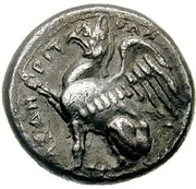 1/2 Stater - Orchamos -  obverse