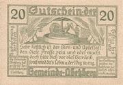 20 Heller (Abetzberg) -  reverse