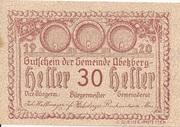 30 Heller (Abetzberg) – obverse