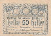 50 Heller (Abetzberg) – obverse