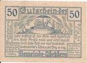 50 Heller (Abetzberg) – reverse