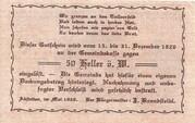 50 Heller (Abstetten) – reverse