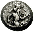 ¼ Siglos - Artaxerxes II / Darius III - 405-330BC (THE ROYAL COINAGE - 4th type C) – obverse