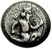 ¼ Siglos - Artaxerxes II / Darius III - 405-330BC (THE ROYAL COINAGE - 4th type C) -  obverse