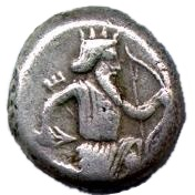 Siglos - Artaxerxes I / Darius III (THE ROYAL COINAGE - 4th type) – obverse